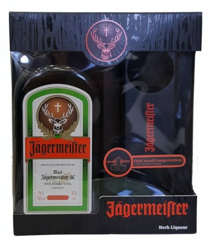 Jägermeister 0,7 35% + fa hangerősítő pdd.