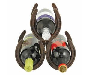 Antik lópatkó formájú asztali bortartó állvány