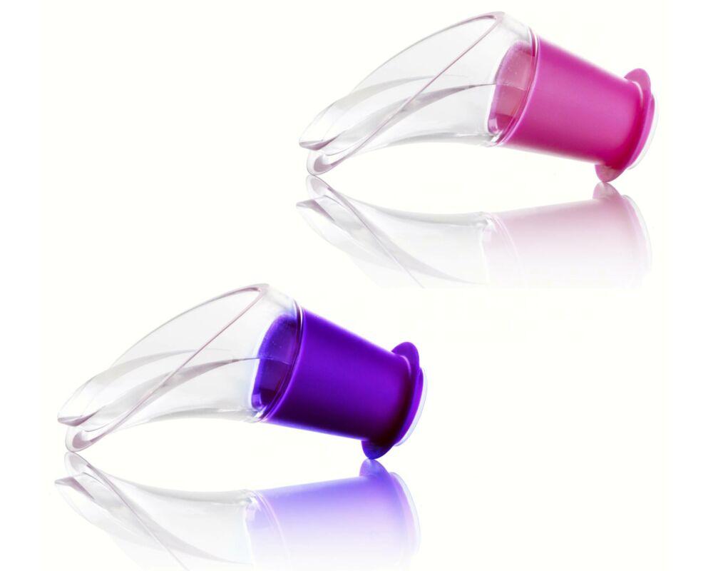 Vacu Vin Crystal borkiöntő lila és pink
