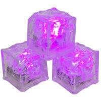 Világító jégkocka 28x28mm pink