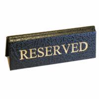 Foglalt tábla kicsi 113x40mm bőr hatású fekete - arany felirattal