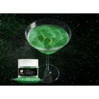 Gin Tonik és koktél színező glitter, ehető csillámpor - zöld (4 gr)