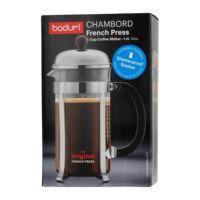 Bodum Chambord French Press műanyag főzőpohárral, 8 csészéhez 1l króm