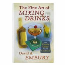 Fine Art of Mixing Drinks koktélkönyv