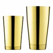 Korikó stílusú boston shaker pohárral arany