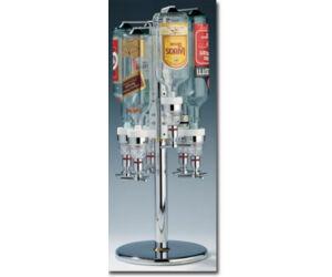 Talpas forgatható italtartó állvány asztalra pultra 5 üvegnek