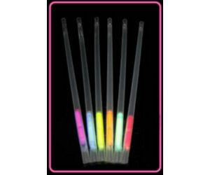 Világító szivószál különféle színekben 6db/cs