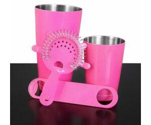 Boston bárszett extra glitter pink 4 részes