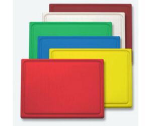 Polietilén vágódeszka 26,6x32,5x1,4cm piros