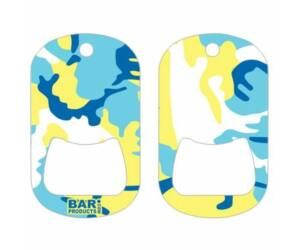 Dog tag flair nyitó Camo Blue and Yellow