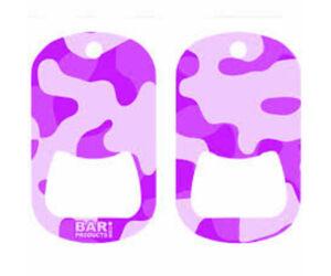 Dog tag flair nyitó Camo Purple