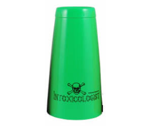 Boston koktél shaker Intoxicologist felirattal zöld