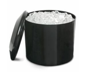 Duplafalú jégvödör fekete 8L