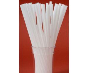 Vastag fehér szívószál 8 mm 500db/cs