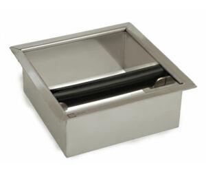 Fém süllyeszthető zaccfiók - knock box 15x15cm
