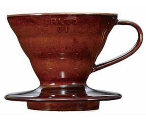 Hario V60 01 porcelán dripper barna
