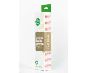 4 rétegű papír szívószál - piros csíkos, 35 db/csomag