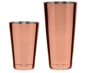 Koriko Boston shaker és pohár szett réz