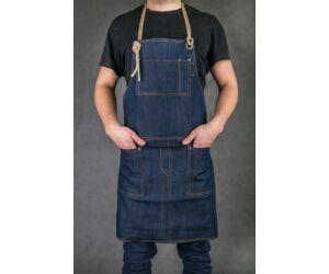 Farmer Báros, barista kötény bőr pánttal