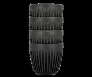 HuskeeCup pohár kávés termosz CHARCOAL 170 ml