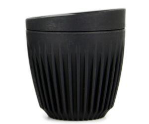 HuskeeCup pohár+tető kávés termosz CHARCOAL 170 ml