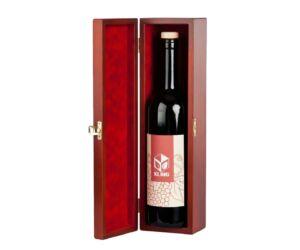 Egypalackos csatos boros doboz