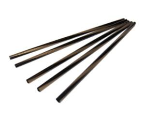 Extra vékony fekete-arany szívószál 5mm 500db/cs