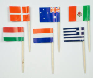 Vegyes zászló pálcika 144 db/cs