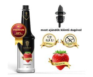 Gluténmentes Eldorado eper szirup 40% gyümölcs tartalommal 0,8 L (most ajándék kiöntő dugóval)
