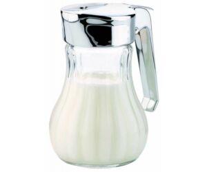 Tej, méz, vagy tejszín adagoló üveg edény 13 cm 250 ml
