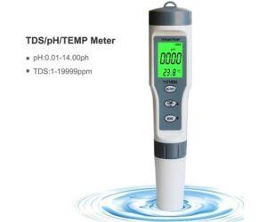 TDS-PH-Hőmérséklet mérő