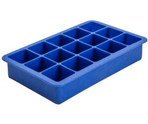 Közepes jégkocka készítő szilikon kék