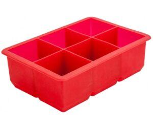 Nagy szilikon jégkocka készítő piros