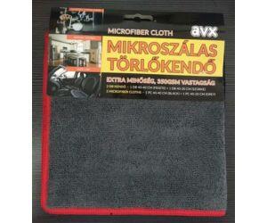 AVX PRO 40*40+40*20cm-es törlőkendő szett-Szürke/Fekete