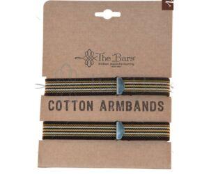 The Bars gumírozott ingujjtartó vintage barna