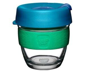KeepCup Brew Café üveg pohár kávés termosz FLORAL 240 ml