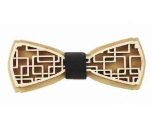Fa csokornyakkendő Square 3D