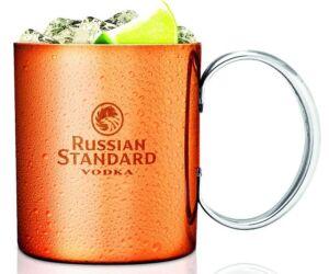 Moscow Mule réz bögre Russian Standard felirattal 370 ml