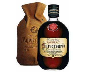 Pampero rum Aniversario rum bőr tasakban 0,7L 40%