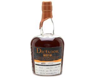 Dictador The Best of rum 1976 0,7L 43%
