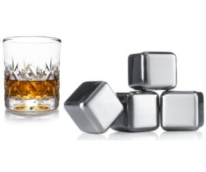 Vacu Vin hűtő fémkocka whisky 4 db-os