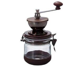 Hario kézi kávé daráló frissen tartó dobozzal