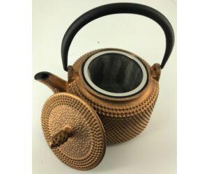 Eredeti Japán teáskanna öntvény, szűrővel bronz színű 300 ml