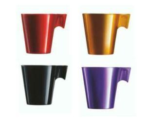 Luminarc flashy cappuccinó színes üveg kávés csésze 4 db/szet