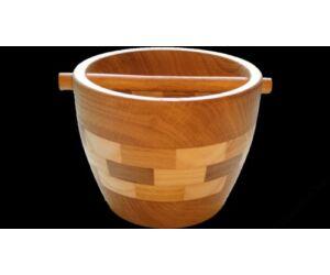 Tölgyfából, kézzel készült fa Knock box (otthoni használatra)