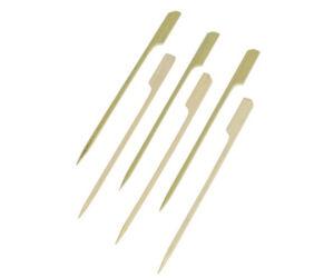 Bambusz koktélnyárs lapos véggel 120mm 250db/cs