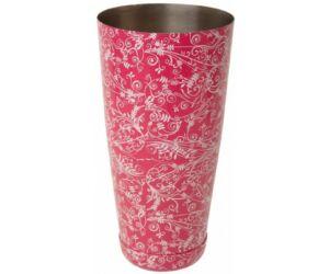 JP súlyozott boston shaker floral pink