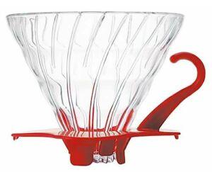 Hario V60 02 üveg dripper piros