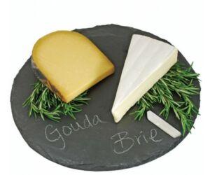 Kerek rusztikus sajt tálaló pala deszka