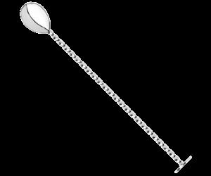 Bárkanál csavart szárú korong exkluzív klasszikus végű 28cm